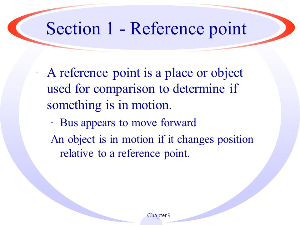 Section 1 - Reference point
