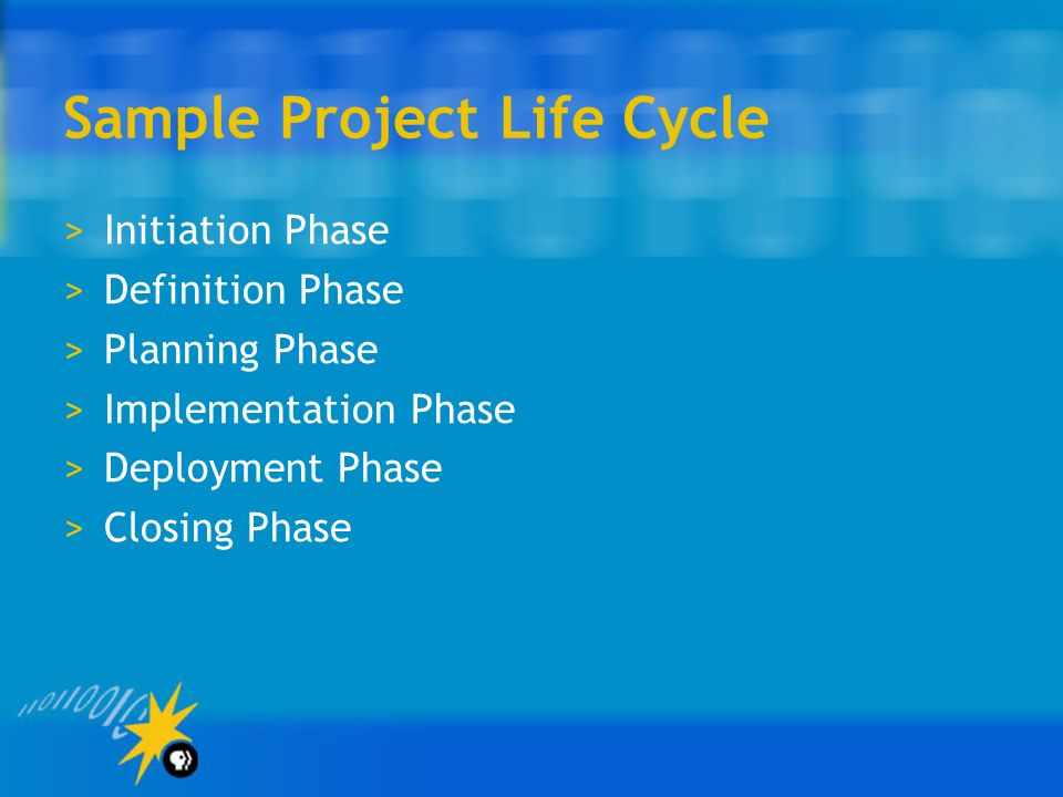 Sample Project Life Cycle