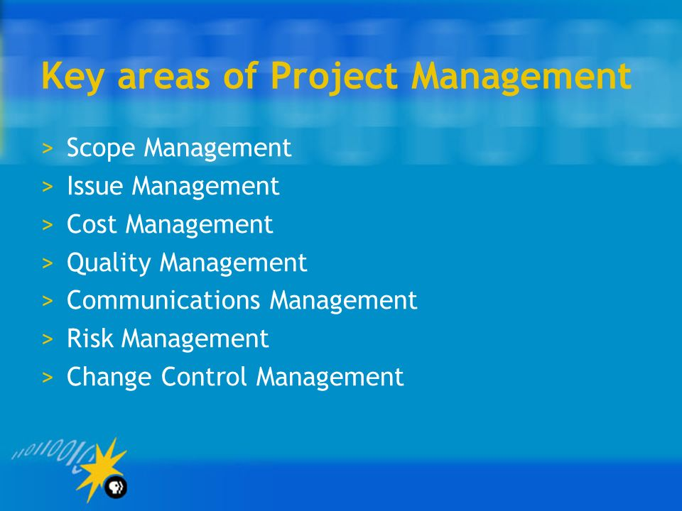 Key areas of Project Management