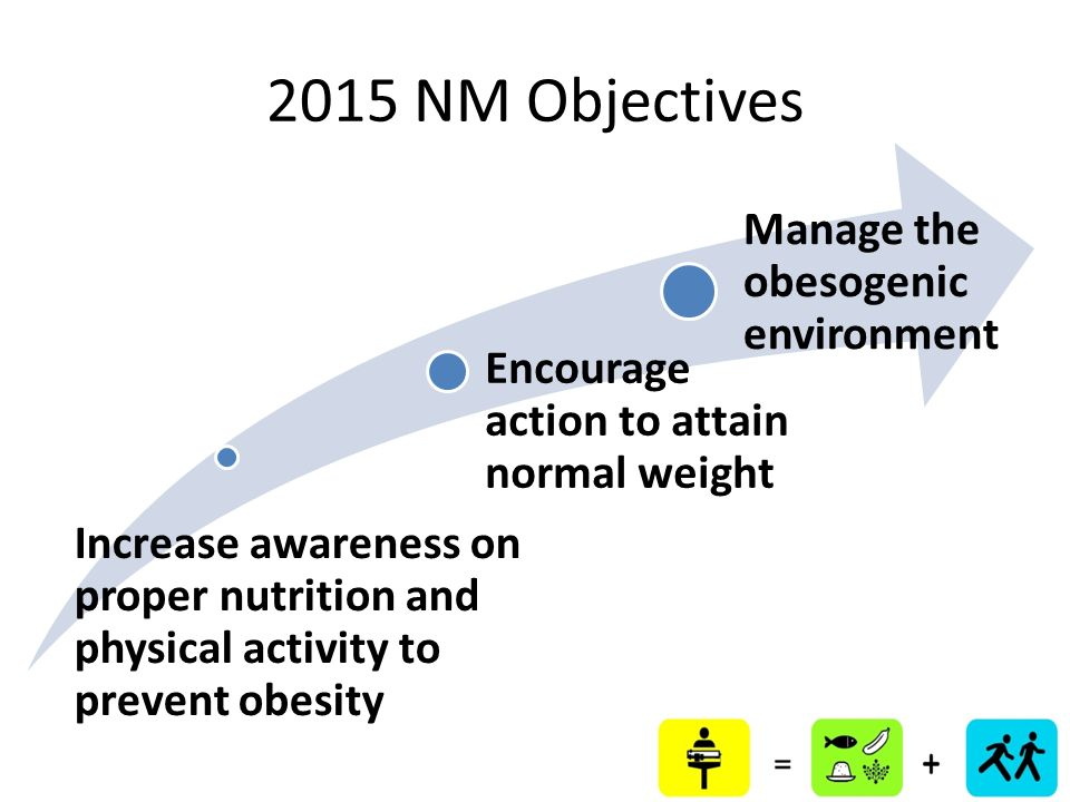 2015 NM Objectives Manage the obesogenic environment