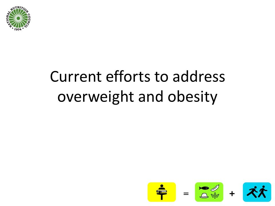 Current efforts to address overweight and obesity