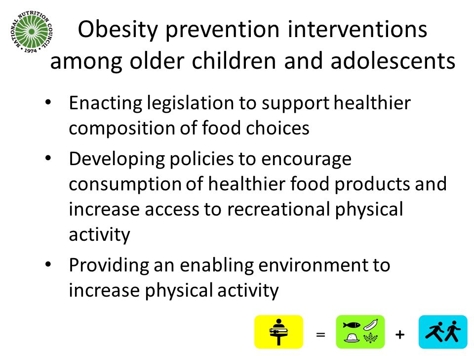 Obesity prevention interventions among older children and adolescents