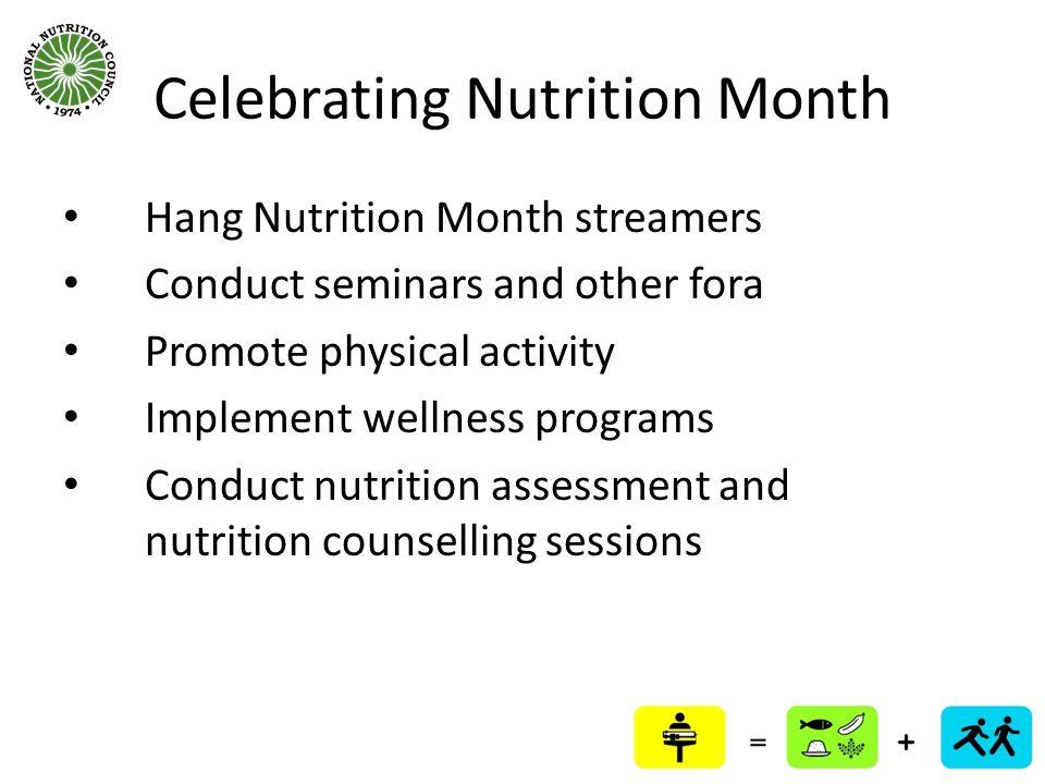 Celebrating Nutrition Month