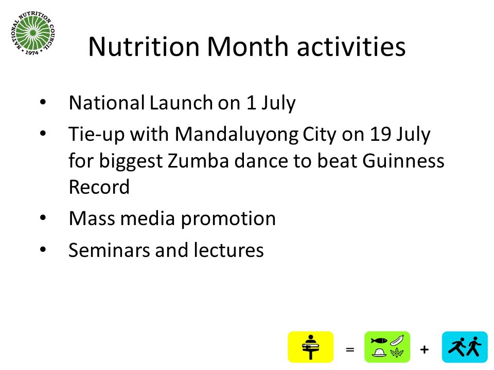 Nutrition Month activities