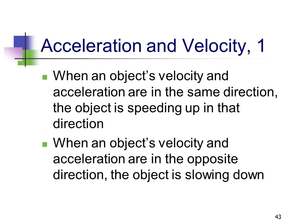 Acceleration and Velocity, 1