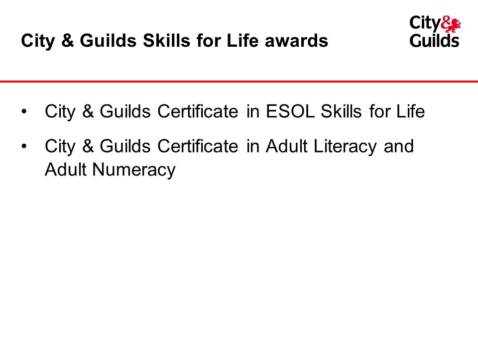 City And Guilds Adult Education