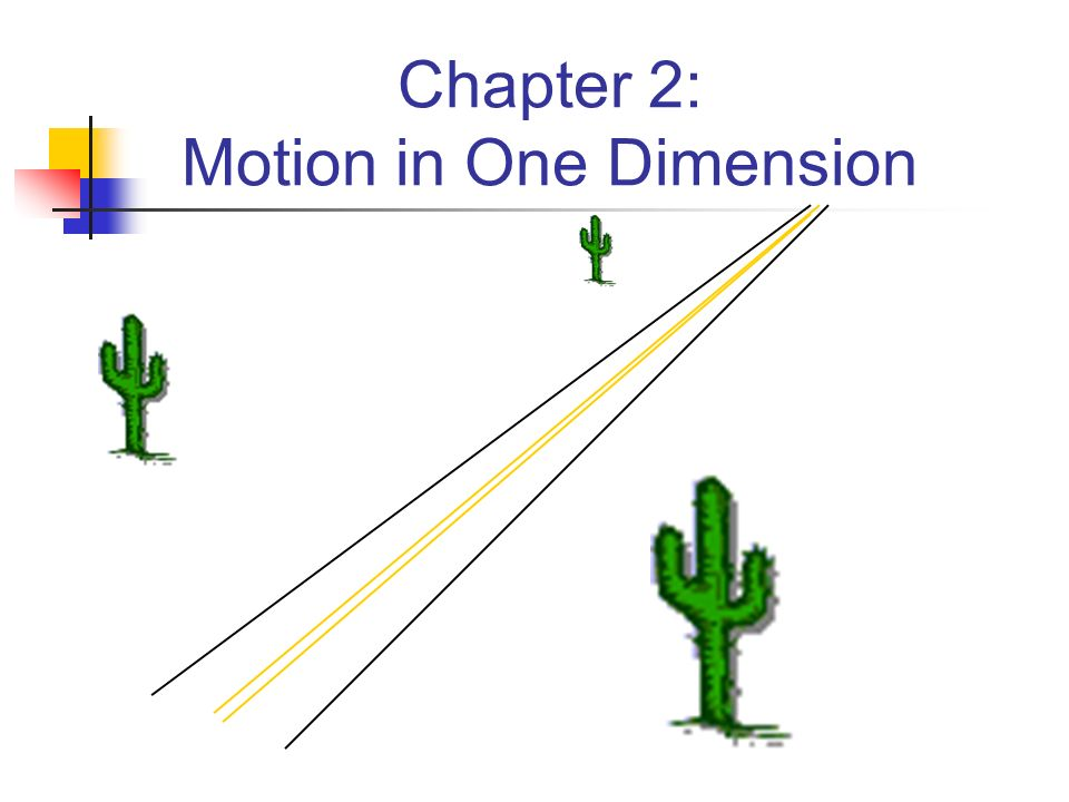 motion in one dimension pdf