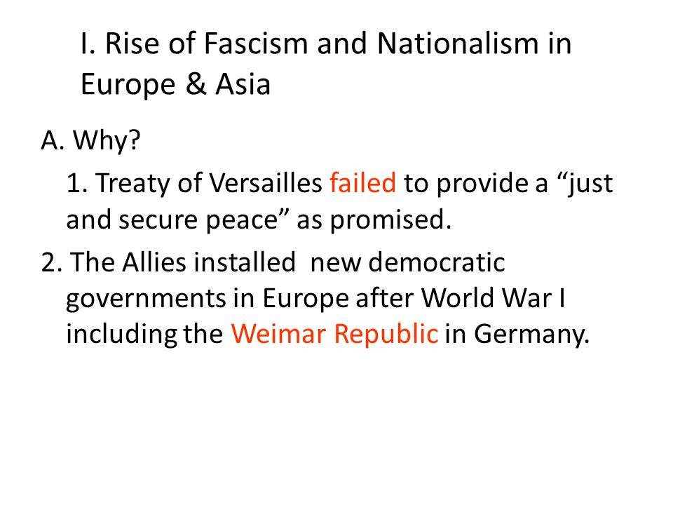 the rise of new dictators after the first world war The world between the wars (1910–1939) lesson 8 the rise of nazi germany  learning  as world war i drew to a close, germany tottered on the brink of  chaos  weimar republic led by chancellor germany a mess after the war   like hitler, how were the new dictators in eastern europe able to gain power a  they.