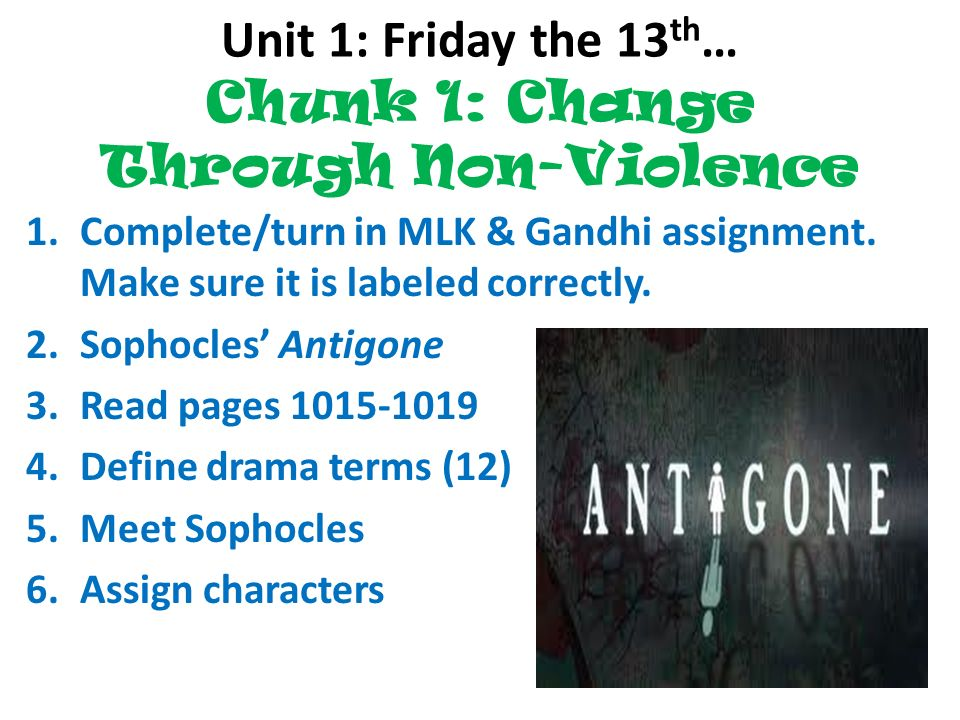 """moral courage in antigone a play by sophocles """"antigone"""" is a tragedy by the ancient greek playwright sophocles, written around 442 bcealthough it was written before sophocles' other two theban plays, chronologically it comes after the stories in """"oedipus the king"""" and """"oedipus at colonus"""", and it picks up where aeschylus' play """"seven against thebes"""" ends it deals with antigone's burial of her brother polynices."""