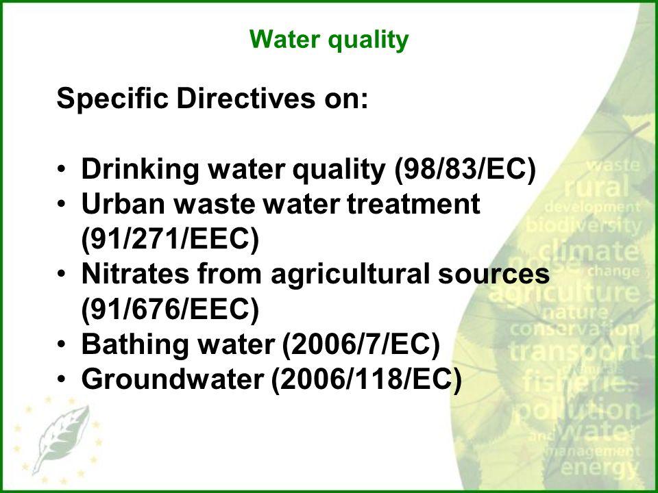 Eu Drinking Water Directive   Eec