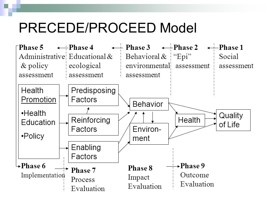 precede proceed model to design an intervention to increase childhood immunization Was the design of the intervention appropriate and built upon relevant data, theory, context, evidence,  protocol and the precede-proceed model  childhood has .