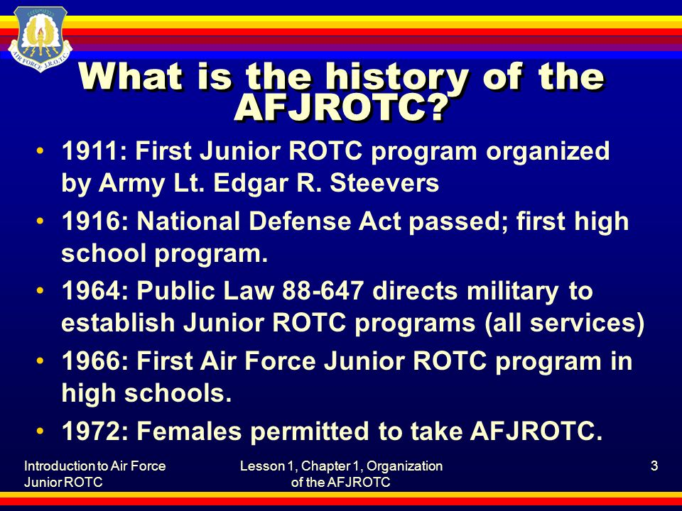 What is the history of the AFJROTC