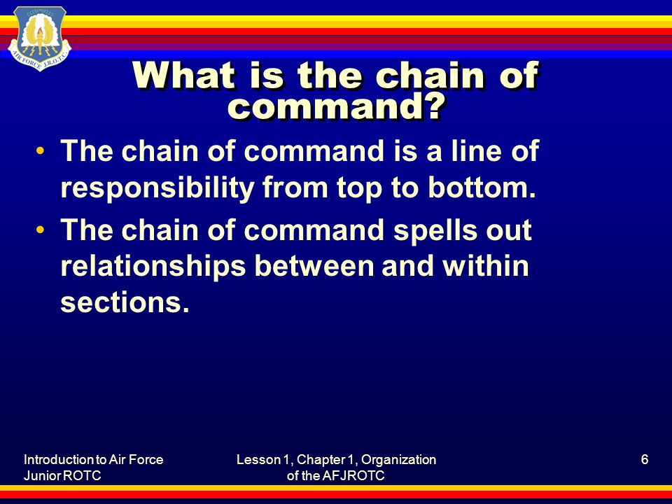 What is the chain of command