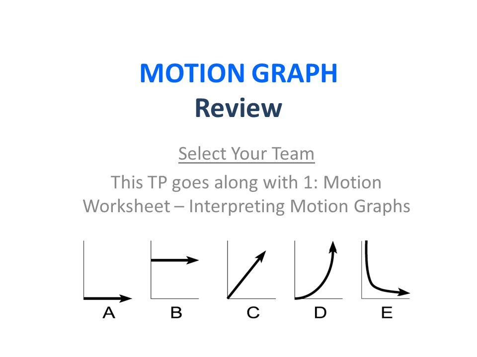 Interpreting Motion Graphs Worksheet andrewgarfieldsource – Interpreting Distance Time Graphs Worksheet