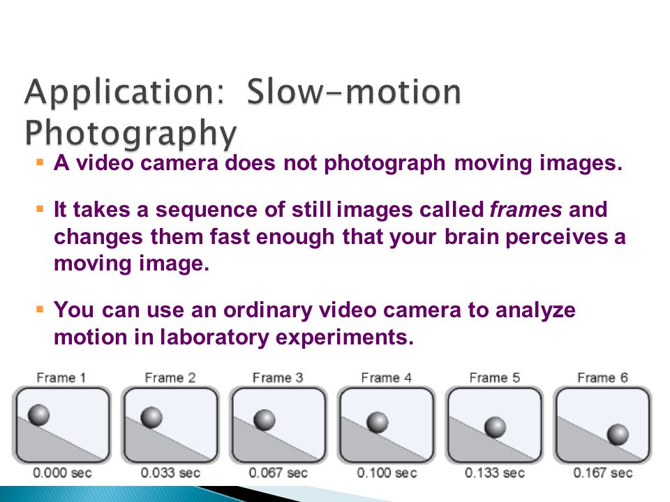 Application: Slow-motion Photography