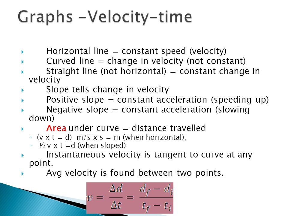 Graphs -Velocity-time