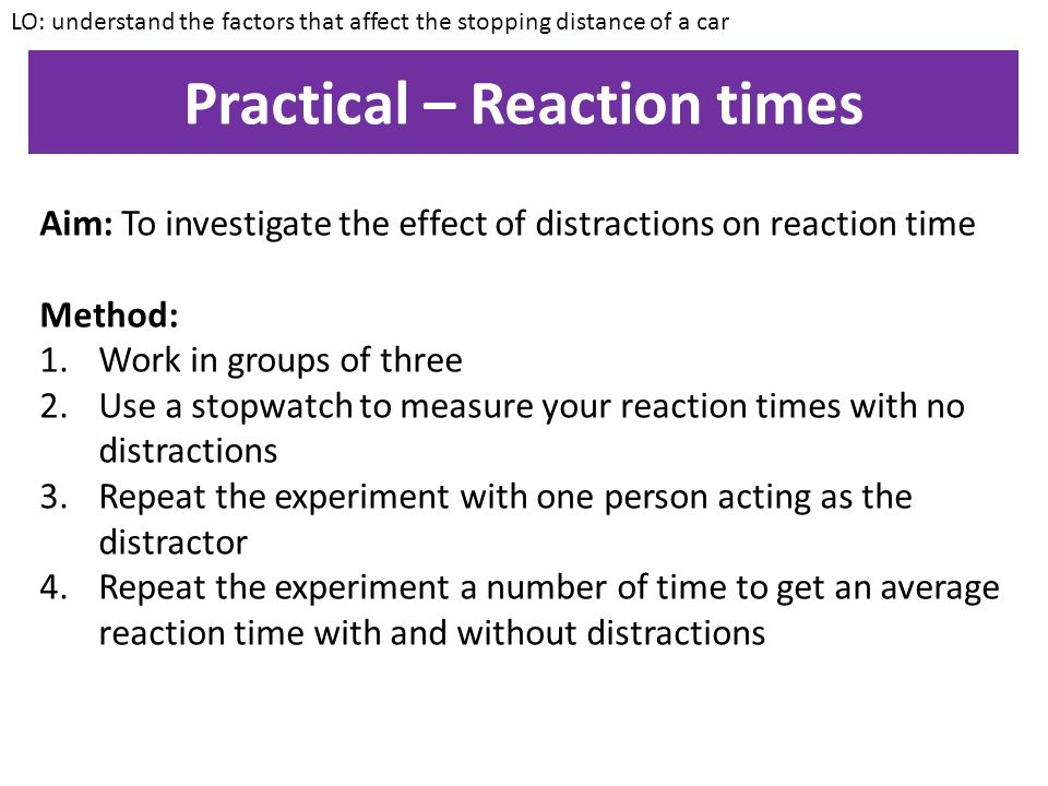 an analysis of the reaction time measurement experiment We developed a reaction time experiment (rt) using a narrative attachment measure with an implicit nature and were interested to capture automatic processes the rt analysis with the narrative procedure might be of interest for a broader variety of questions in experimental and neurophysiological settings to capture.