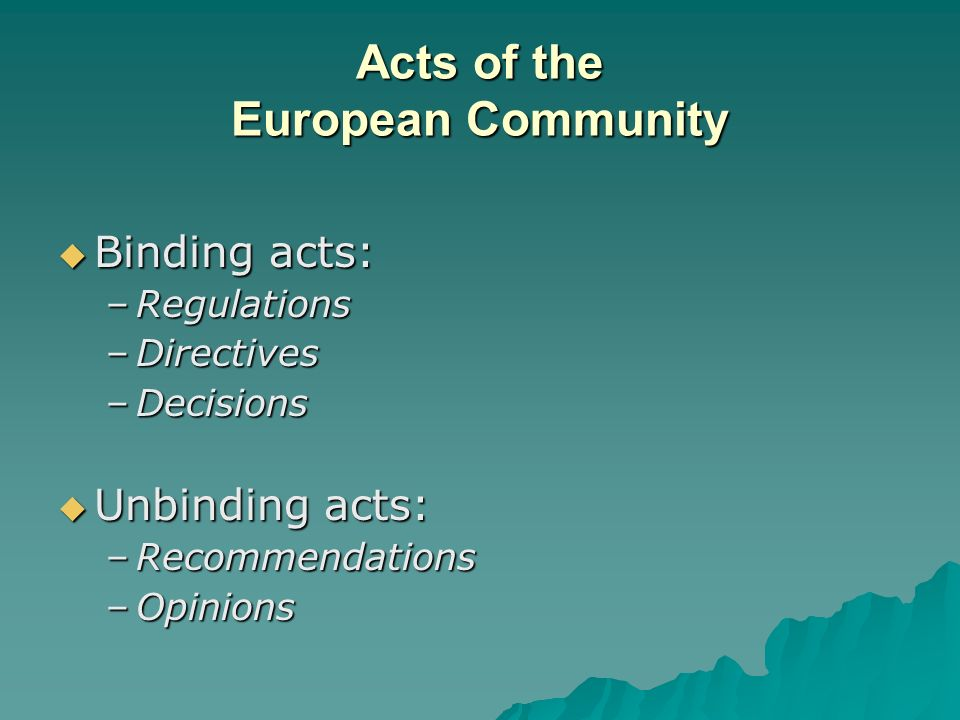 Acts of the European Community