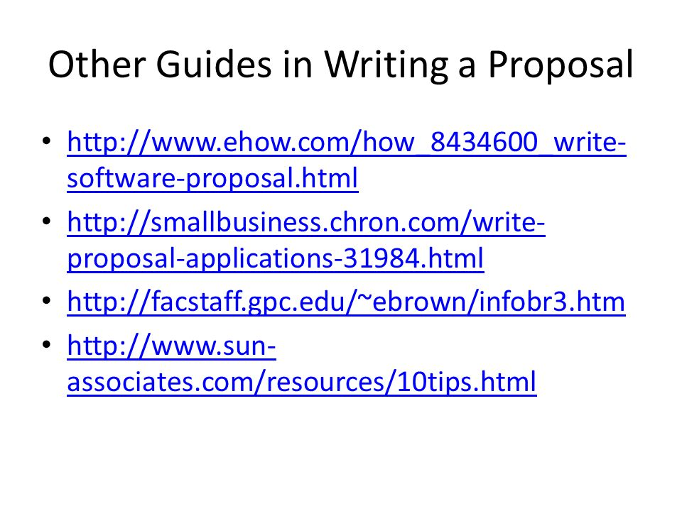 proposal writing software