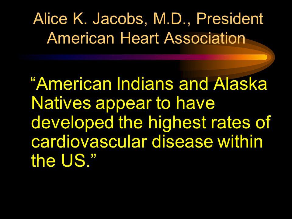 Alice K. Jacobs, M.D., President American Heart Association