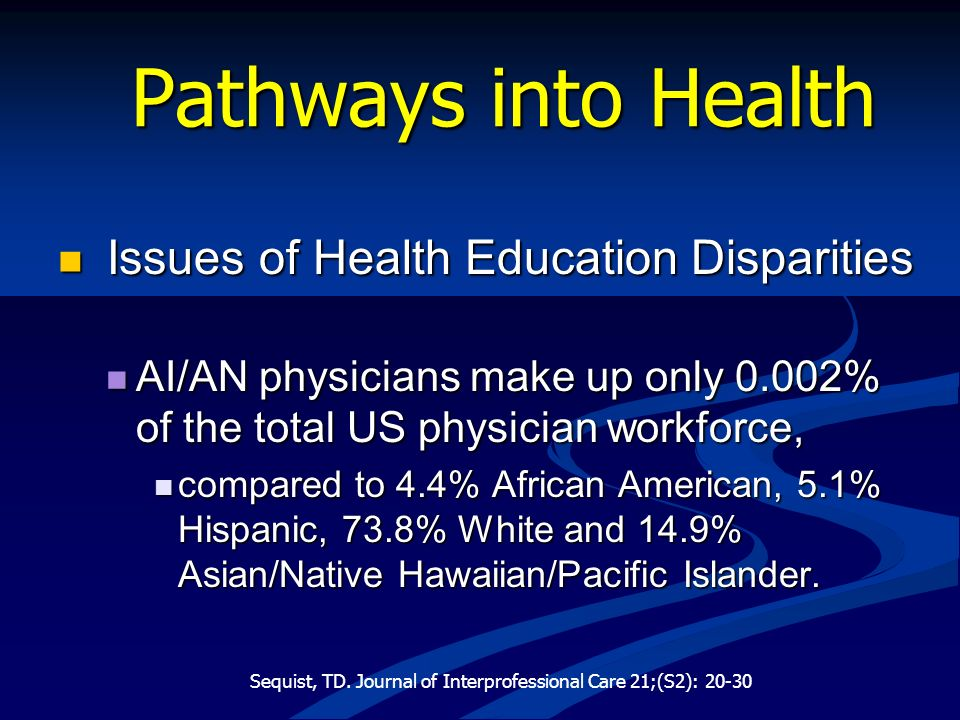 Pathways into Health Issues of Health Education Disparities
