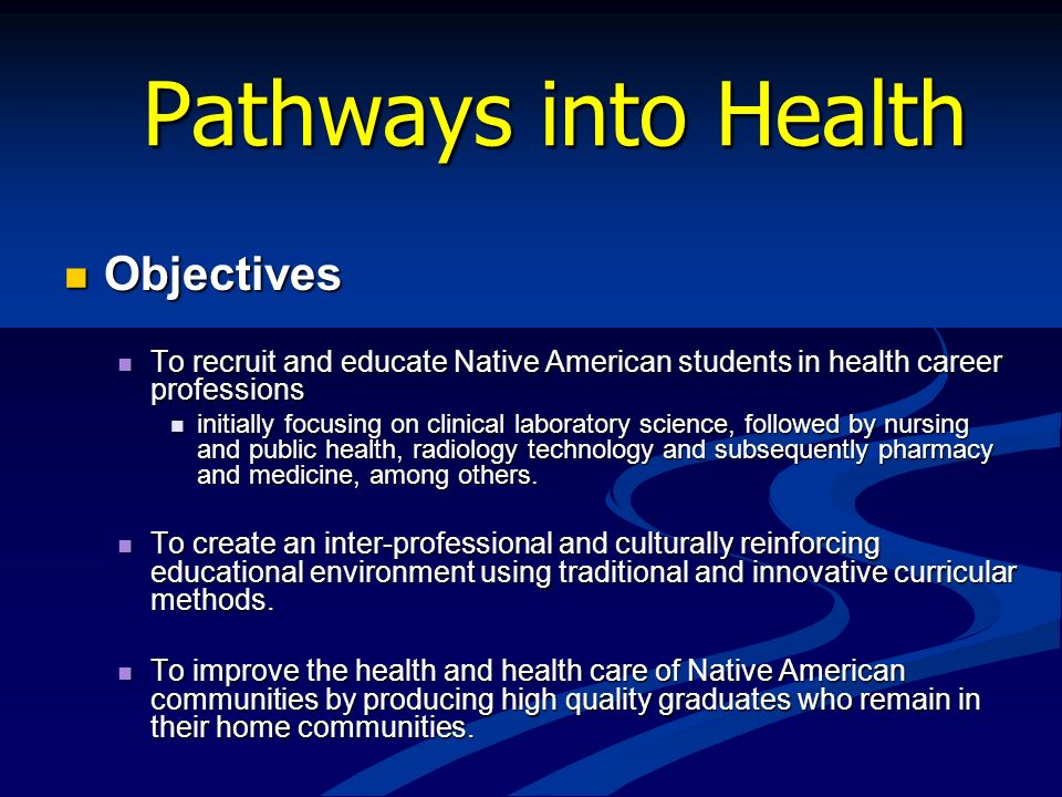 Pathways into Health Objectives