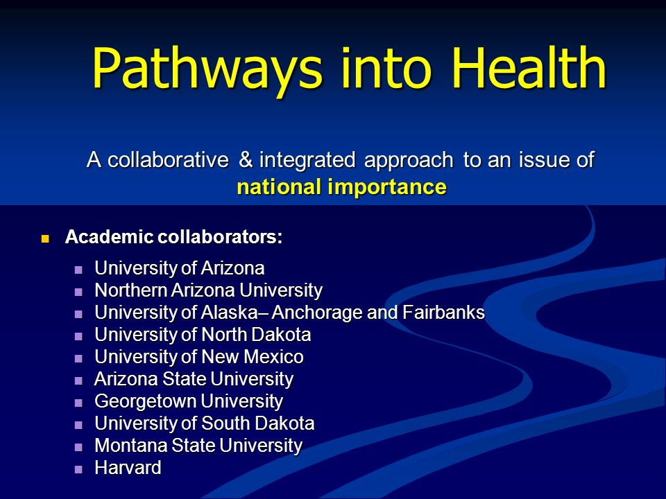 A collaborative & integrated approach to an issue of