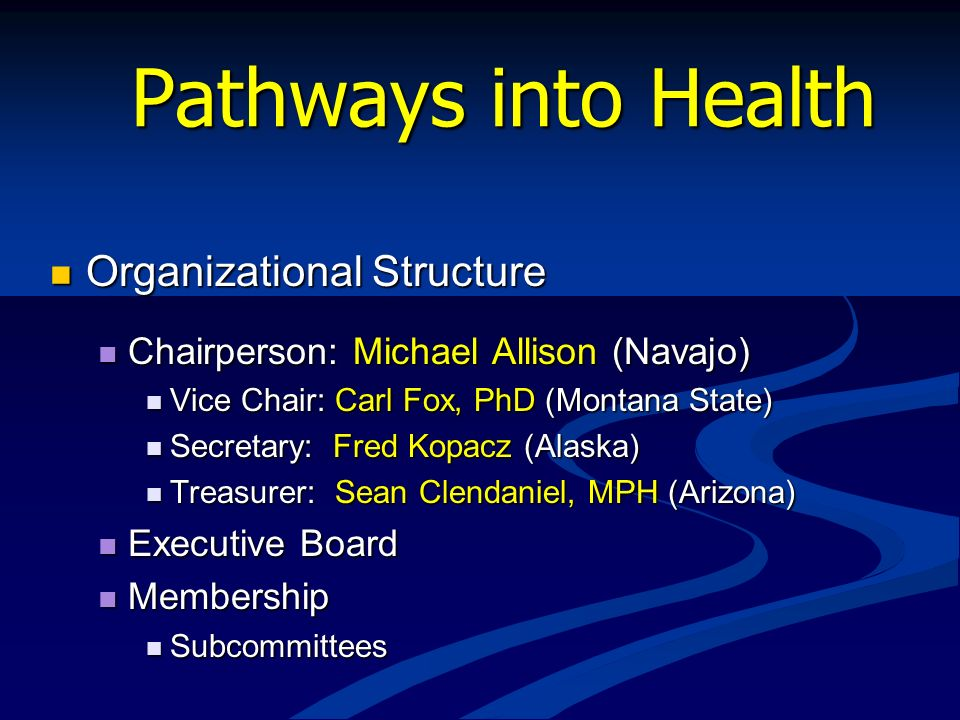 Pathways into Health Organizational Structure