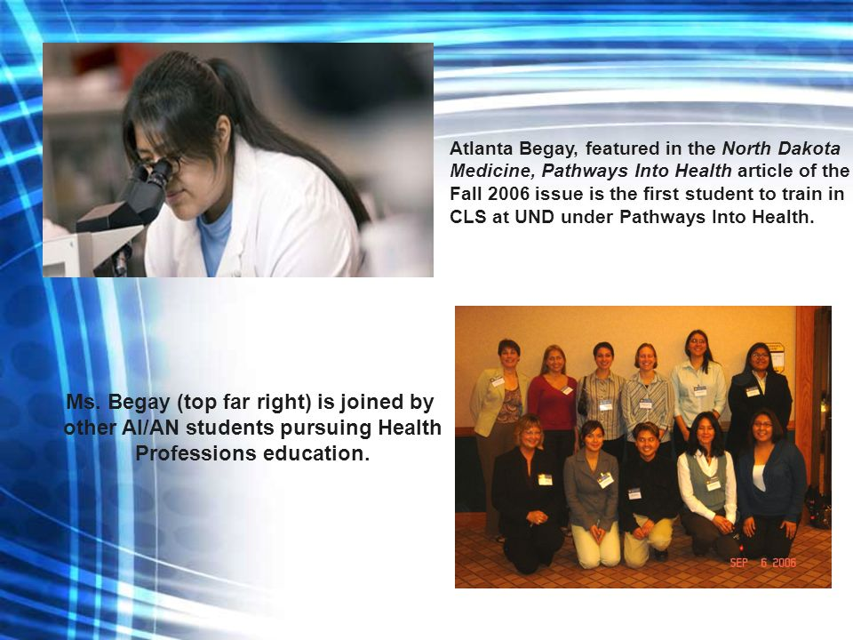 Ms. Begay (top far right) is joined by