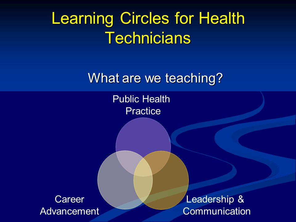 Learning Circles for Health Technicians