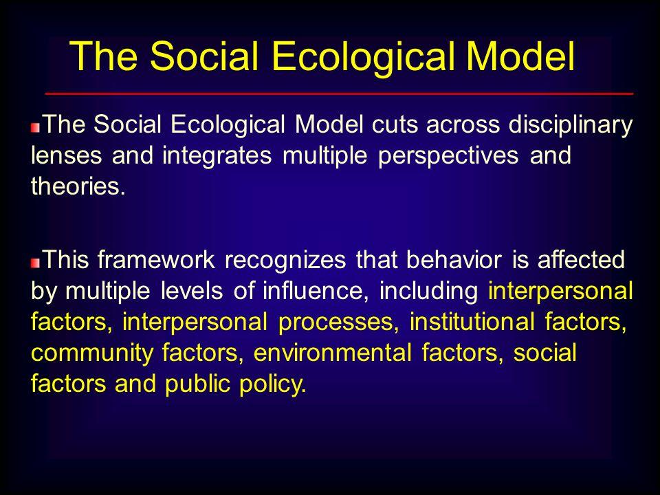 The Social Ecological Model