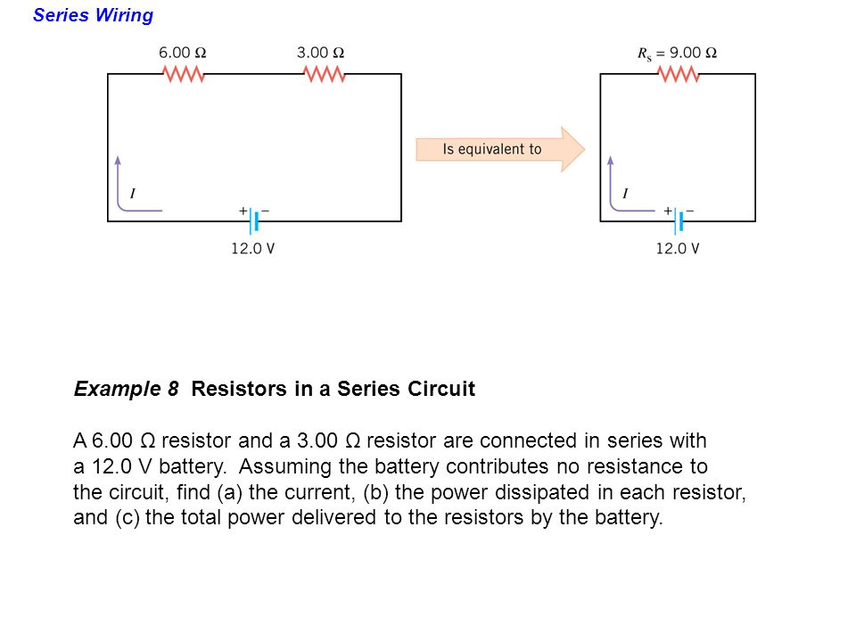 how to find total current in a series circuit