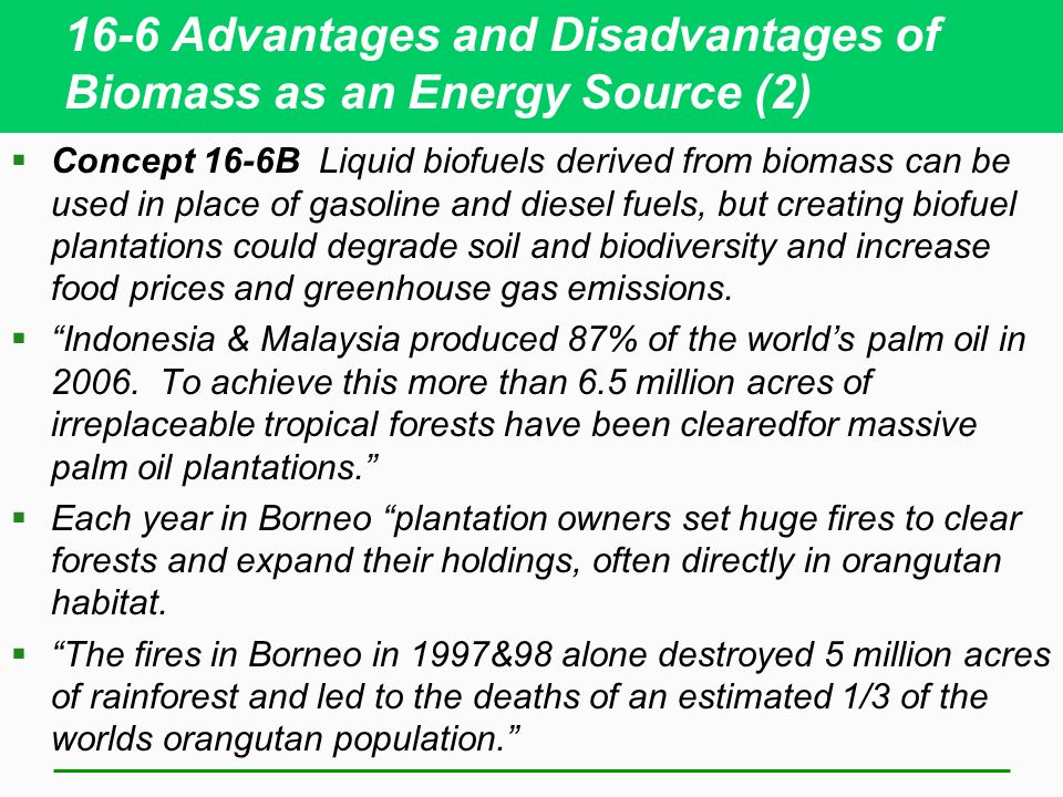 Advantages and Disadvantages of Biofuels
