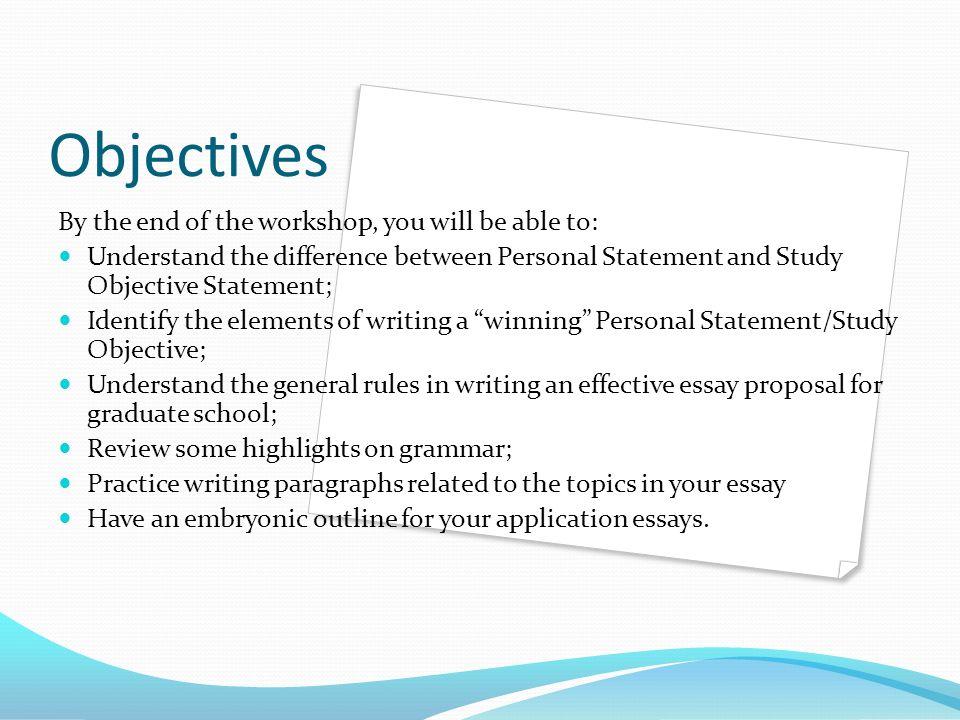 Language objectives essay writing