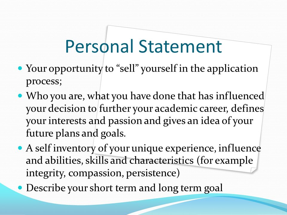 writing scholarship essays for graduate school ppt  personal statement your opportunity to sell yourself in the application process