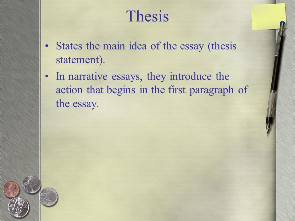does narrative writing have a thesis statement If you find yourself getting bogged down trying to zero in on your thesis statement, start writing background or detail paragraphs then come back and work on the.