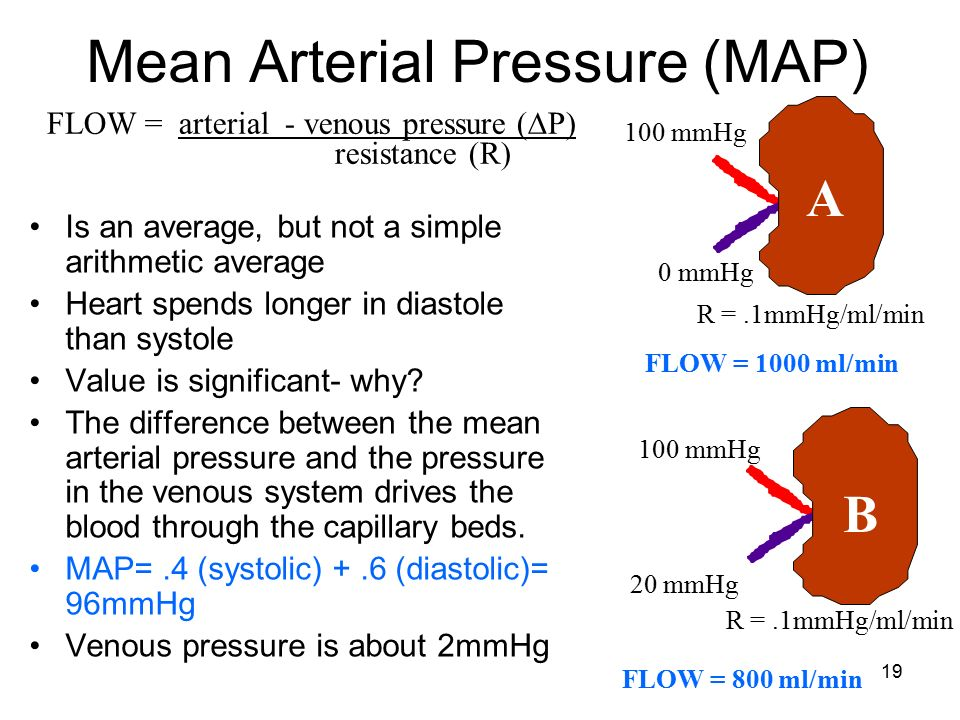 Mean Arterial Pressure Map Calculator Map Equation