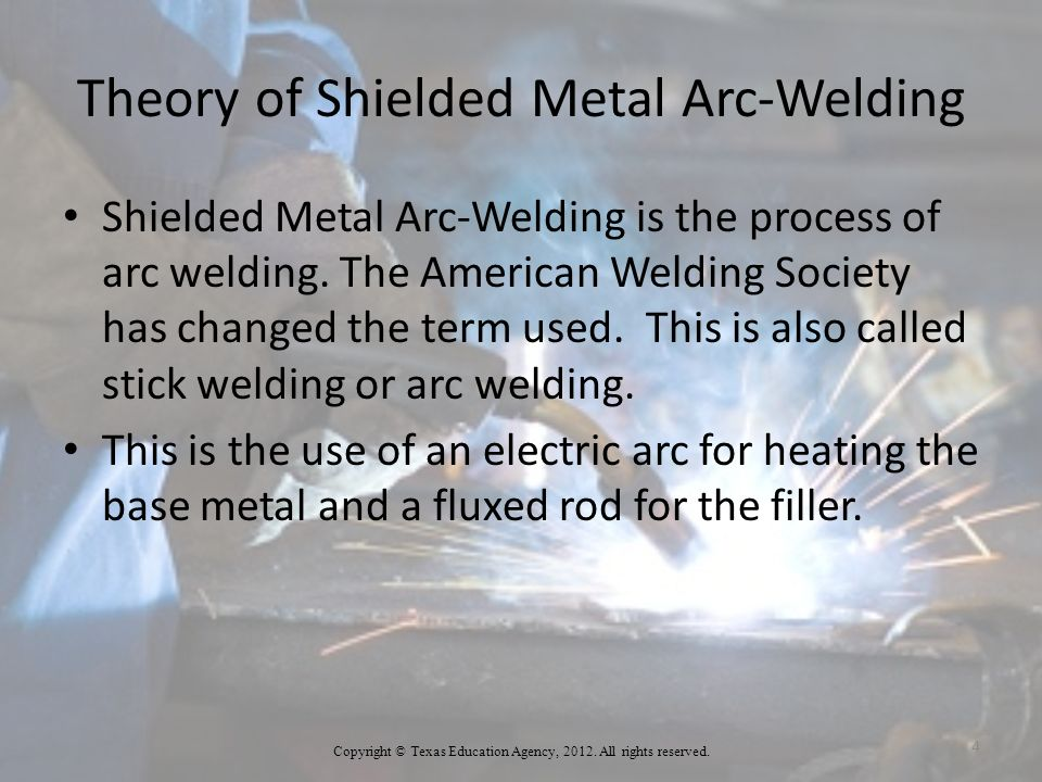Theory of Shielded Metal Arc-Welding