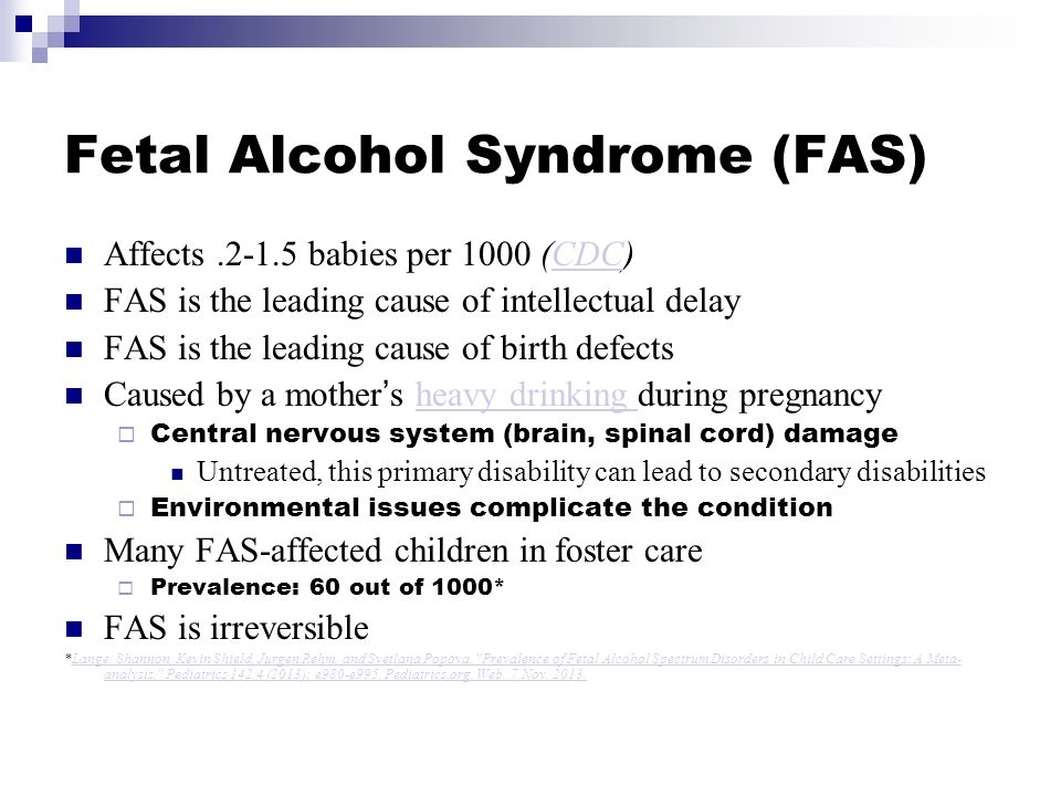 the characteristics of prenatal alcohol exposure and fetal alcohol syndrome Introduction the result of prenatal exposure to alcohol ranges from fetal alcohol syndrome (fas), the leading cause of mental retardation, to other.