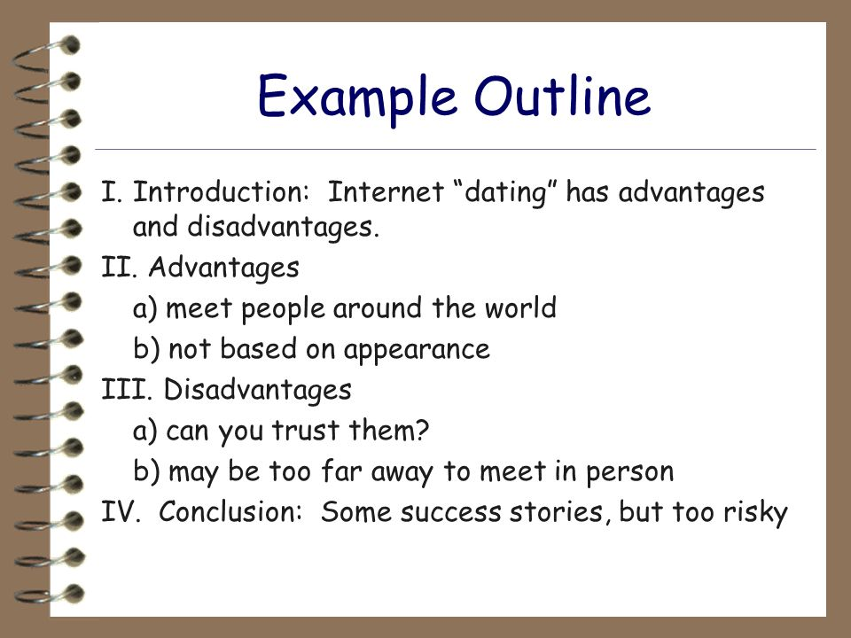 Online dating advantages and disadvantages essay