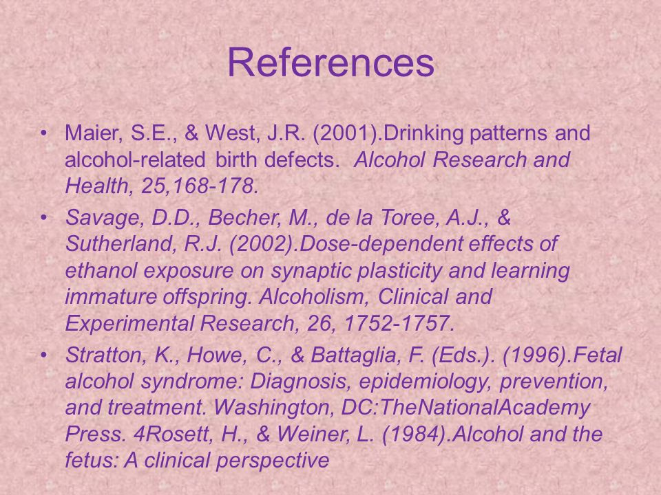 alcohol related birth defects in the 1990s Their daughter akila lives with a fetal alcohol spectrum disorder (fasd)   disorder (arnd) and alcohol-related birth defects (arbd)  organization on  fetal alcohol syndrome (nofas), which was founded in 1990.