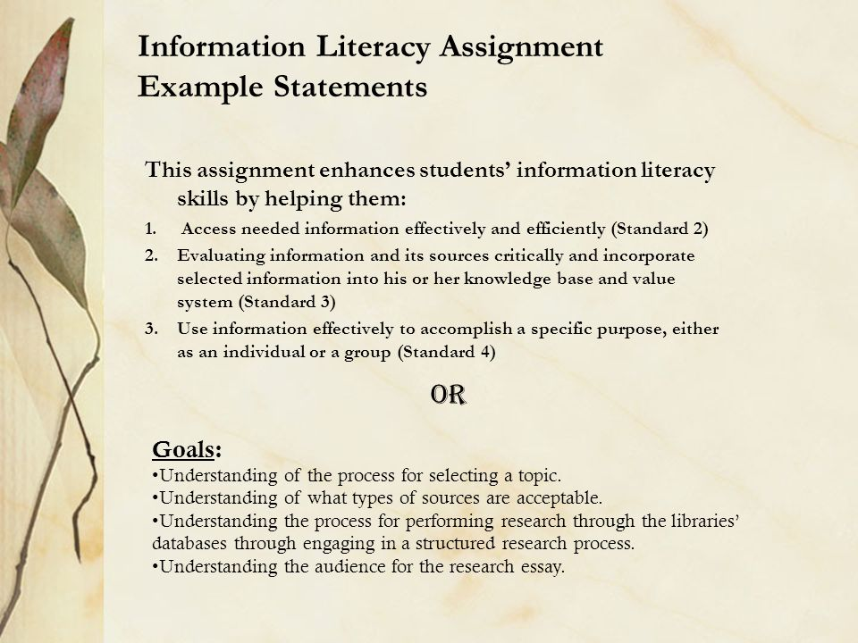 information literacy for open distance learners essay It aids information services in open and distance learning in the place of library and information information literacy instruction to distance students.