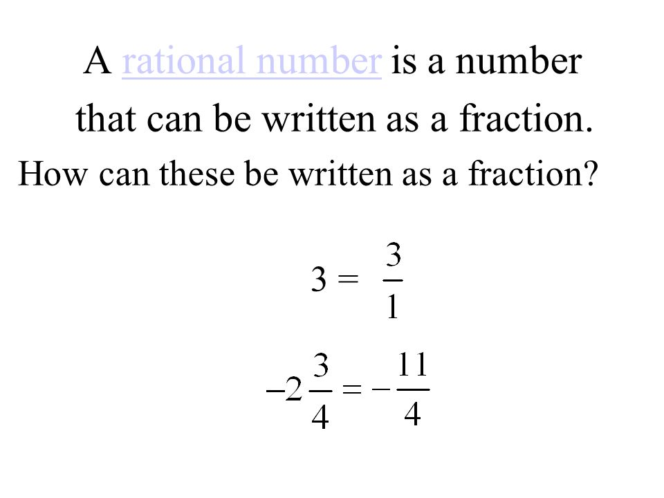 A rational number is a number