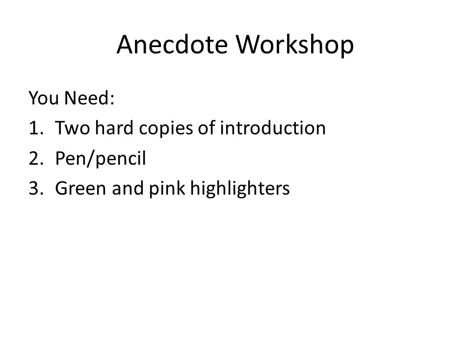 how to write an anecdote introduction