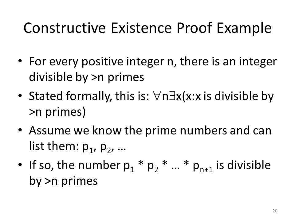 Constructive Existence Proof Example