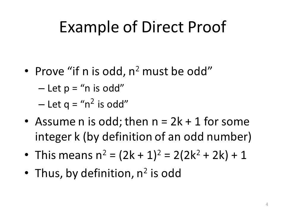 Example of Direct Proof