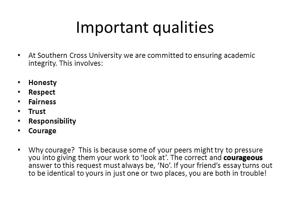 Importance of academic integrity essay