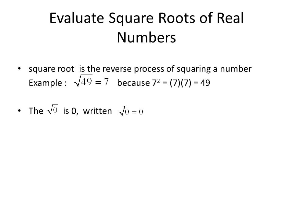 how to find the reverse of a square root