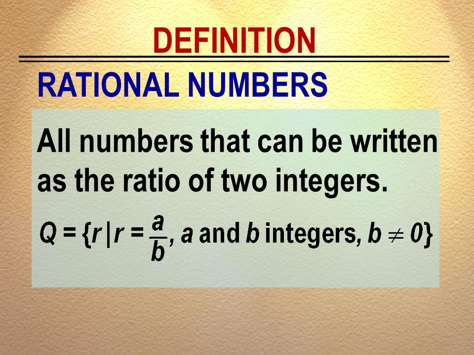 DEFINITION RATIONAL NUMBERS
