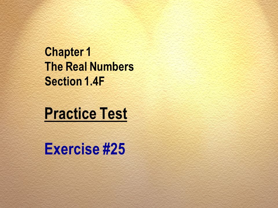 Chapter 1 The Real Numbers